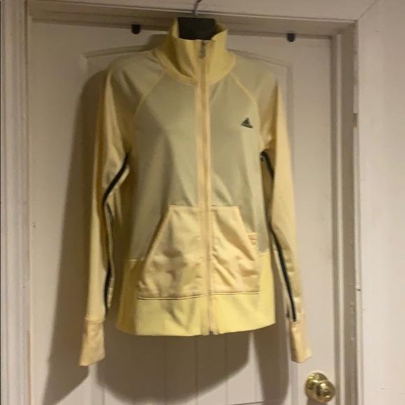 adidas Jackets & Blazers - Adidas yellow training  jacket size Large EUC